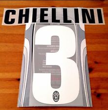 2012-13 Juventus Home Shirt CHIELLINI#3 Official STILSCREEN Name Number Set