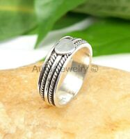 Fidget Spinner Ring Sterling Silver Band Statement Jewelry - ANY SIZE