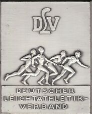 DEUTSCHER LEICHTATHLETIK-VERBAND (DLV) PEWTER PLAQUE - RARE - NO RESERVE