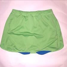 Danskin   Athletic Skort   Lime Green and Blue    Skirt Shorts Size M   (P02-20)