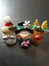 Ajmc Christmas Pin Santa Claus Snowman Frosty & Reindeer