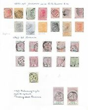 Sierra Leone stamps 1883 Collection of 30 CLASSIC stamps  CAT VALUE $330