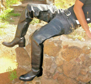 Made to order 37¨ tall round toe cowboy boots made to your leg and foot size .