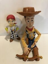 """Toy Story Woody Pull-String Doll 15"""" Doll(w/ Hat) Disney PixarJessie Figure"""