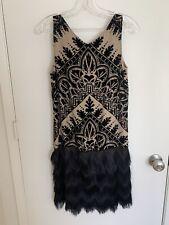 Mac Studio 20s The Great Gatsby Women's Dress Black With Gold Trim Small