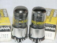 2 NIB Sylvania 6SJ7GT Tubes (USA)