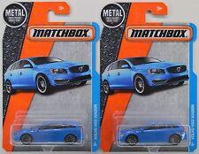 "2016 Matchbox: VOLVO V60 STATION WAGON ""Blue"" #8/125 - 2 Car LOT Set - NEW"