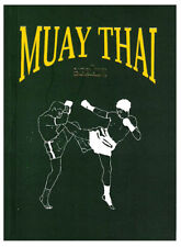 Muay Thai Self Study Pocket Portable book martial arts English with illustration