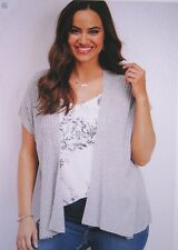 Maurices~New With Tags~Gray short sleeved ribbed cardigan-vest~Plus 3-3X