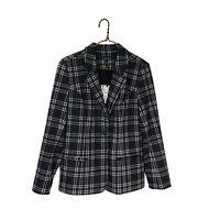 Stitch Fix 41 Hawthorn Black White Plaid Ponte Blazer Jacket NWT Size Large