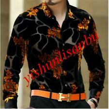 Formal Mens Chemise Homme Silk Black Golden Print Leopard Shirts Luxury Tops New