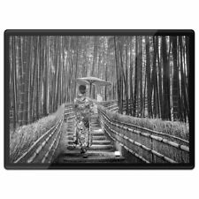 Plastic Placemat A3 BW - Bamboo Forest Japanese Woman  #42524