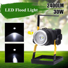 30W Portable Rechargeable LED Work Spot Light Outdoor Cordless Camping Tent Lamp