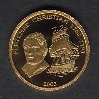 Magellan. 2004 Gold 5 Dollars. Mariana Islands Proof 1.224gms  .9999 gold.