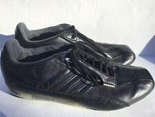 9c05dd34e25e1 Adidas Porsche Design S2 Sneakers Lace Up Leather Black Mens 9.5
