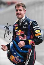 Sebastian Vettel signé 12x8 Portrait, Grand Prix d'Australie 2013