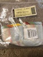 "Longaberger Sunflower Stripe 7"" or 7 inch Round Keeping Basket Liner #23525259"