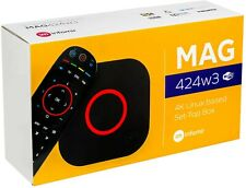 LATEST RELEASE Mag 424w3 4K Box. WIFI PLEASE NOTE; NO SUBSCRIPTION WITH THIS BOX