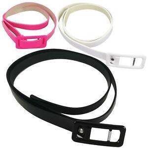 Kids Girls Belt Shinny Adjustable Buckle PU Leather Waist Belts
