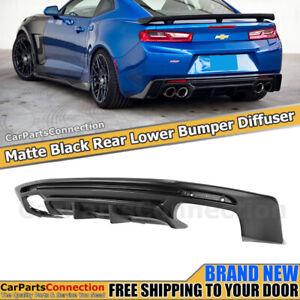 Rear Bumper Diffuser Chevy Camaro 16-19 Vortex Generator Quad Exhaust Unpainted