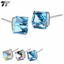 Crystal Sterling Silver Earrings & Studs for Men