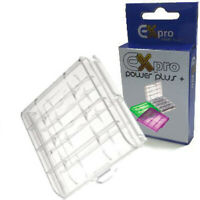 Ex-Pro® storage Case AA/AAA Battery  Tough  - Clear Colour - 3 Case Pack