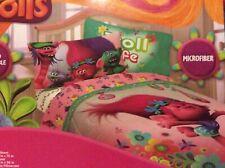 Trolls DreamWorks 3-PC Kids Twin Sheet Set Microfiber - Sheets + Pillowcase