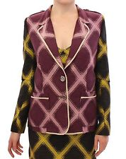 NEW $640 House of Holland Blazer Purple Yellow Jacket Coat UK8 / EU34 / US 6 / S