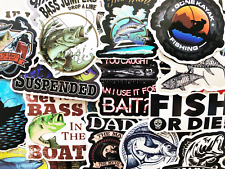 50 Fishing Nature Stickers Laptop Car Bumper Boat Box Decals Fish Angling #Cj