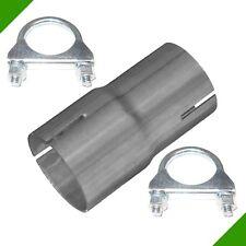 Aufweitung von 45mm auf 50mm Auspuff Adapter Reduzierung Verbinder 2 Schelle