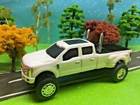 1/64 custom FORD F350 Lifted Truck Farm Toy Ertl DCP, G5 lift Kit, Dual Pipes