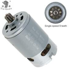 RS550 19500 RPM 12V DC Motor with Single Speed 9 Teeth and High Torque Gear Box