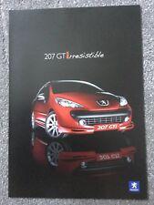 Peugeot 207 GTI THP 175 2007 mercado del Reino Unido Folleto de ventas plegable de lanzamiento