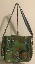 OILILY Messenger Shoulder Bag Purse Green Hummingbird And Flowers