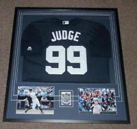 Aaron Judge 32x35 Framed Signed 2013 Bowman RC & Jersey Display JSA Yankees