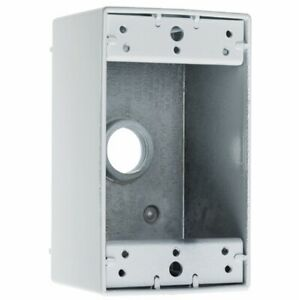 """NEW! Pass & Seymour WPB35 Weatherproof Outlet Box 1-Gang, 5 Hole, 3/4"""", Gray"""