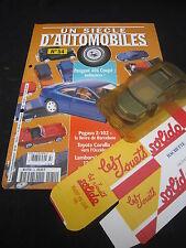 AC883 SOLIDO HACHETTE PEUGEOT 406 COUPE 1998 1/43 UN SCIECLE D'AUTOMOBILES