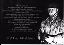 WW2 - CP - Prière du Lieutenant-colonel Bull Wolverton de la 101° Airborne Div.