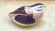 Royal Crown Derby Imari Quail Bird Figurine Paperweight - Excellent