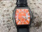 Minoir Germany automatic watch little second - date - Tonneau - orange dial