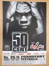 50 CENTIMES 2007 Francfort + orig. Concert Poster-concert affiche Nouveau foldet