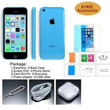 "iPhone 5C Smartphone 3G WCDMA Dual Core 4.0"" 8GB 8MPx GPS Face Time Blue T7W4"