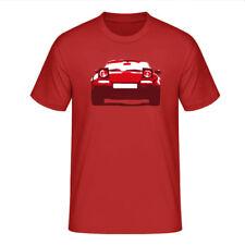 """T-Shirt """"Mazda MX-5 Miata (NA)"""", rot / dreifarbiger Print, vorne"""