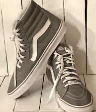 New listing Vans Off The Wall Grey White Men's Size 12 Hi Top Skateboard Shoes Sneakers