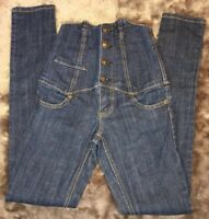 ZANA DI JEANS Dark Wash Denim High Waist super skinny Women's Jeans, Size 0