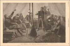 CHRISTMAS, SOLDIER CHEERFUL IN TENT DURING DAKOTA BLIZZARD by Remington 1891