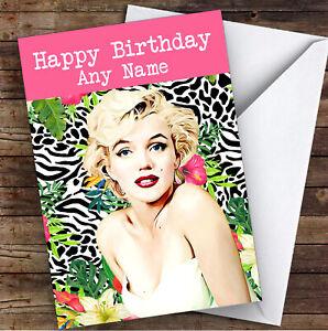 Marylin Monroe Funky Celebrity Personalised Birthday Card