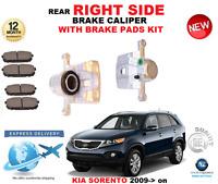 FOR KIA SORENTO Mk II XM 2009-> NEW REAR RIGHT BRAKE CALIPER WITH brake PADS SET