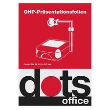 Overheadfolien Inketfolien Kopierfolien Inkjet Kopier OHP Folien A4 - 5, 10, 20