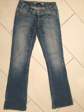 ONLY Vero Moda Jeans Destroyed Stretch Washed Blau S M W 34 L 34 Skinny Usedlook